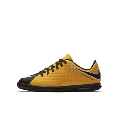 Calzado de fútbol para niños talla pequeña/grande Nike Jr. HypervenomX Phade 3 para cancha cubierta