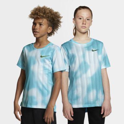 Nike Instacool-træningsoverdel med korte ærmer til store børn