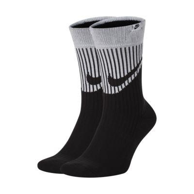 Nike SNKR Sox Swoosh Crew Socks (2 Pairs)