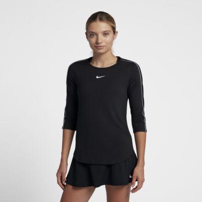 Haut de tennis à manches 3/4 NikeCourt pour Femme