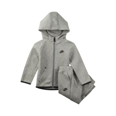 Set med huvtröja och joggingbyxor Nike Sportswear Tech Fleece för baby (12-24 mån)