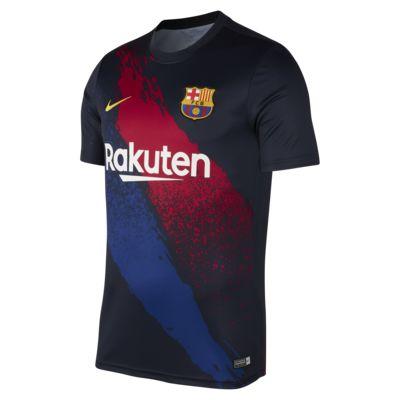 Kortärmad fotbollströja FC Barcelona för män