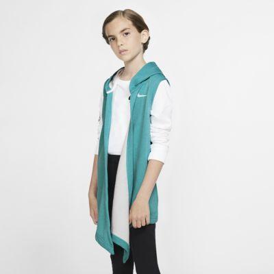 Tréninková vesta Nike s kapucí pro větší děti (dívky)