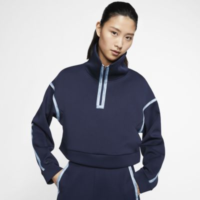 Sudadera de entrenamiento de tejido Fleece sin cierre de 1/4 para mujer Nike City
