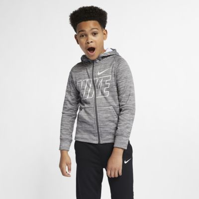 Nike Dri-FIT Therma Older Kids' (Boys') Full-Zip Training Hoodie