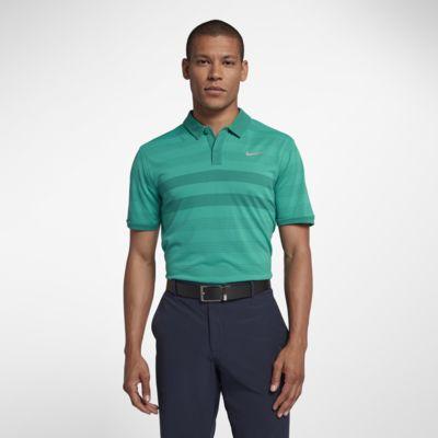 Polo de golf à rayures Nike TechKnit Cool pour Homme