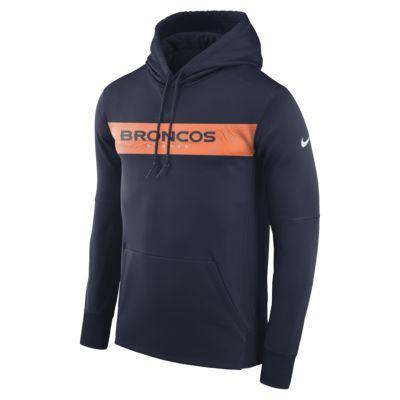 Ανδρική μπλούζα με κουκούλα Nike Dri-FIT Therma (NFL Broncos)