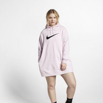 Nike Sportswear Swoosh Fransız Havlu Kumaşı Kadın Elbisesi (Büyük Beden)