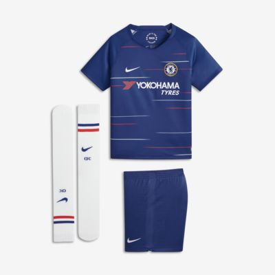 2018/19 Chelsea FC Stadium Home Fußballtrikot-Set für jüngere Kinder