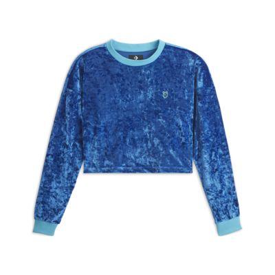 Converse x Miley Cyrus  Women's Velvet Long-Sleeve Crop T-Shirt