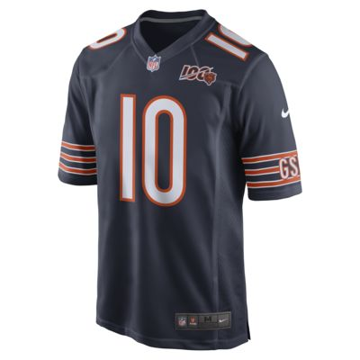 NFL Chicago Bears (Mitch Trubisky) Men's Game Football Jersey