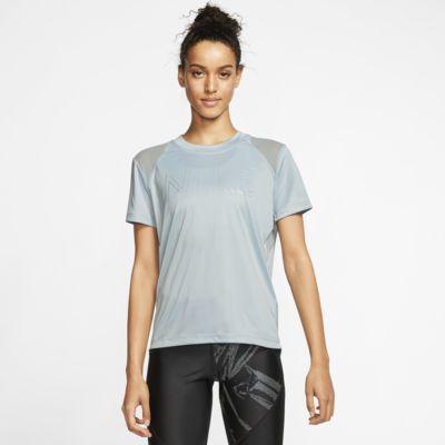 Prenda para la parte superior de running metalizada de manga corta para mujer Nike Dri-FIT Miler