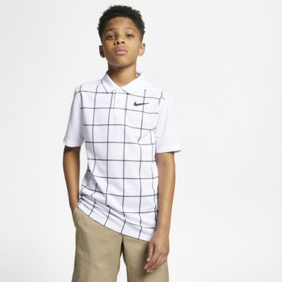 Εμπριμέ μπλούζα πόλο για γκολφ Nike Dri-FIT για μεγάλα αγόρια