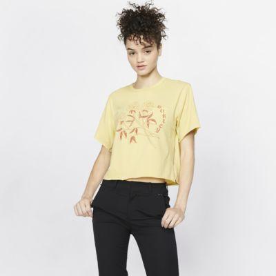 Hurley Three Roses Pocket-T-shirt til kvinder