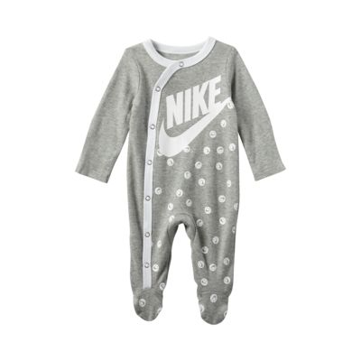 Nike Baby (0–9M) Long-Sleeve Footed Overalls