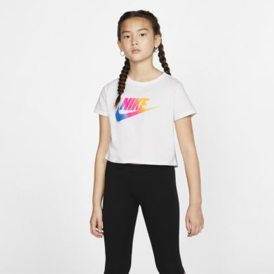 Kort t-shirt Nike Sportswear för tjejer