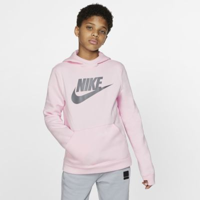 Φλις μπλούζα με κουκούλα Nike Sportswear για μεγάλα παιδιά