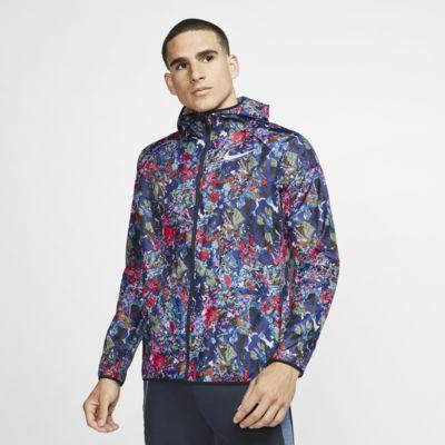 เสื้อแจ็คเก็ตวิ่งผู้ชายพิมพ์ลาย Nike Windrunner