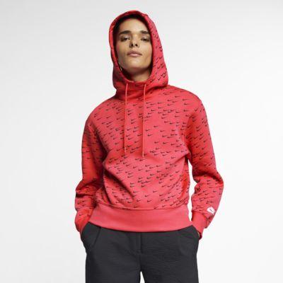 Nike Sportswear Swoosh női mintás kapucnis pulóver