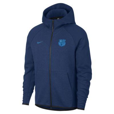 FC Barcelona Tech Fleece férfi kapucnis pulóver