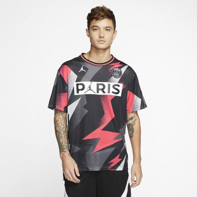 Κοντομάνικη μπλούζα από διχτυωτό υλικό PSG
