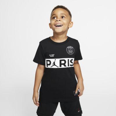 PSG-t-shirt med korte ærmer til små børn