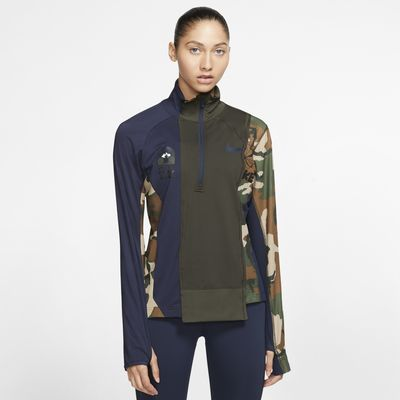 Dámská běžecká bunda Nike x Sacai s polovičním zipem