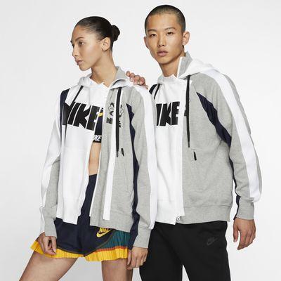 Nike x Sacai Hoodie mit doppeltem Reißverschluss