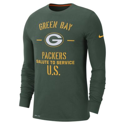 Nike Dri-FIT Salute To Service (NFL Packers) Men's Long-Sleeve T-Shirt