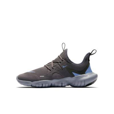 Купить Беговые кроссовки для школьников Nike Free RN 5.0, Thunder Grey/Stellar Indigo/Светло-синий, 23257952, 12634273