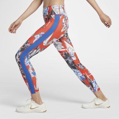 กางเกงรัดรูปเทรนนิ่งผู้หญิงพิมพ์ลาย Nike One