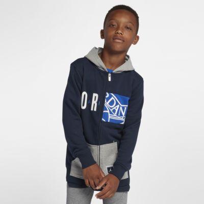 Jordan AJ 23 Deconstructed Big Kids' (Boys') Full-Zip Hoodie