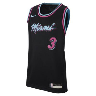 reputable site ab239 3a2a7 Dwyane Wade City Edition Swingman (Miami Heat) Big Kids' Nike NBA Jersey