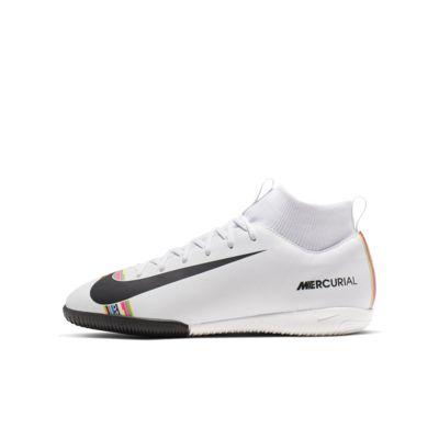 Nike Jr. SuperflyX 6 Academy LVL UP IC Little/Big Kids' Indoor/Court Soccer Shoe