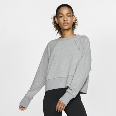 Nike Dri-FIT Get Fit Fleece-Trainings-Rundhalsshirt für Damen