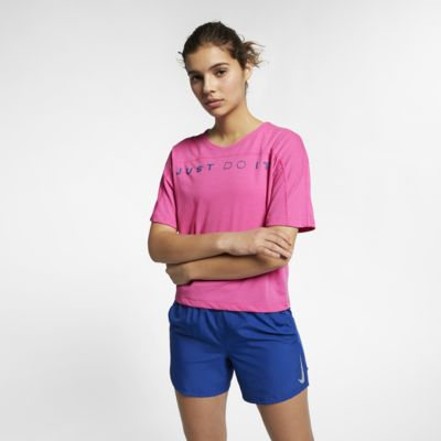 Nike Dri-FIT Miler Hardlooptop met korte mouwen voor dames