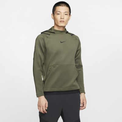Felpa pullover in fleece con cappuccio Nike Pro - Uomo