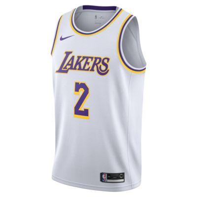 Lonzo Ball Association Edition Swingman (Los Angeles Lakers) tilkoblet Nike NBA-drakt til herre