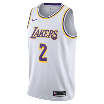 Maillot connecté Nike NBA Lonzo Ball Association Edition Swingman (Los Angeles Lakers) pour Homme