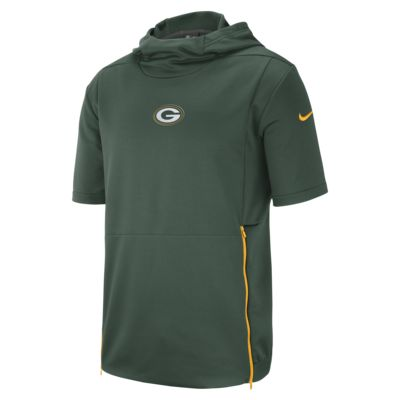 Мужская футболка с коротким рукавом и капюшоном Nike Dri-FIT Therma (NFL Packers)