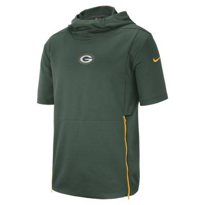 Nike Dri-FIT Therma (NFL Packers) Herentop met capuchon en korte mouwen