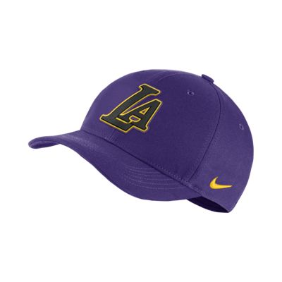 Los Angeles Lakers City Edition Nike AeroBill Classic99 NBA Hat