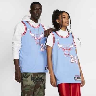 Lauri Markkanen Bulls – City Edition Nike NBA Swingman-drakt til herre