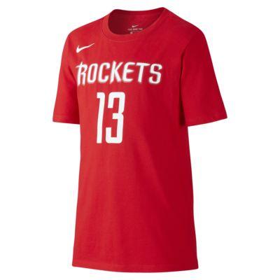 T-shirt do koszykówki dla dużych dzieci (chłopców) Nike Icon NBA Rockets (Harden)
