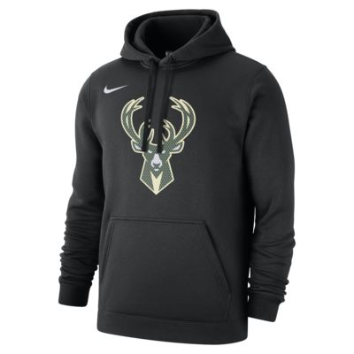 Pánská mikina NBA Milwaukee Bucks Nike s kapucí