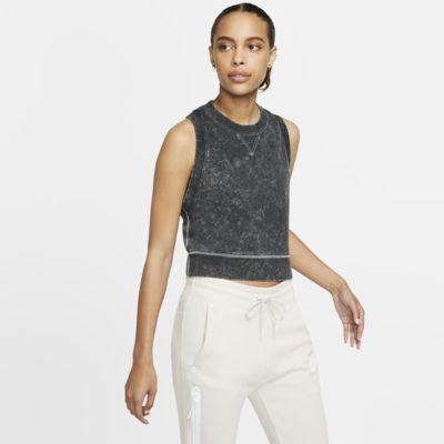 Nike Sportswear Korte tanktop van sweatstof voor dames