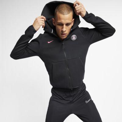 Ανδρική μπλούζα με κουκούλα και φερμουάρ Paris Saint-Germain Tech Fleece