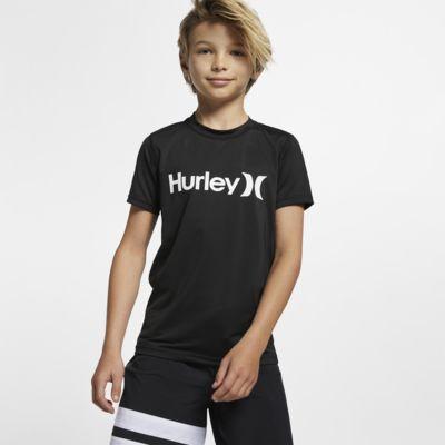 Hurley One And Only Boys' Short-Sleeve Rashguard Top