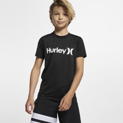 Hurley One And Only Boys' Short-Sleeve Rashguard Top