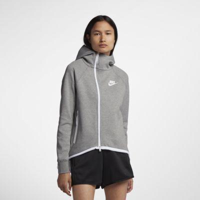 Cappa con zip a tutta lunghezza Nike Sportswear Tech Fleece Donna
